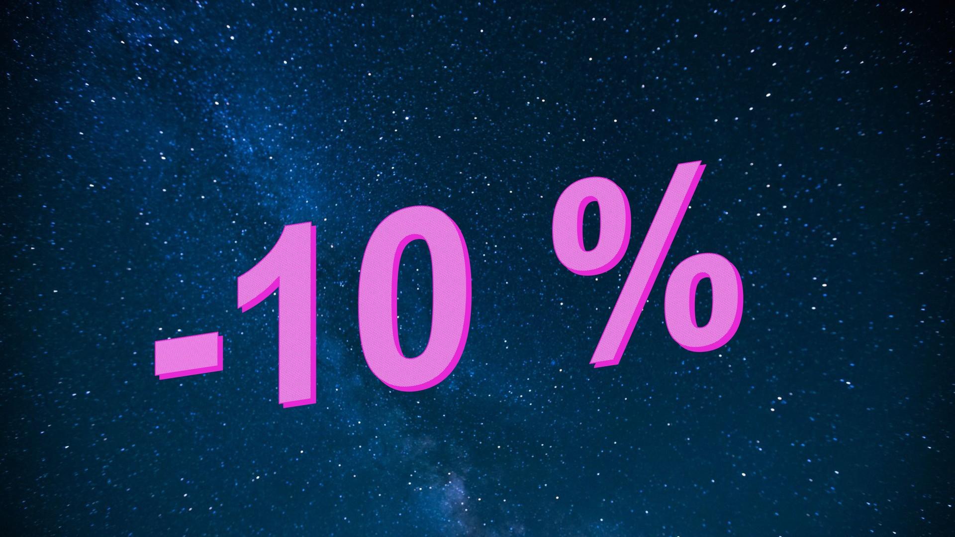 Promotion 10% 2 semaines et plus